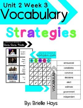 3rd Grade Wonders Unit 2 Week 3 Vocabulary Strategies