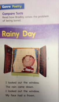3rd Grade Wonders Unit 2 Week 5 Approaching Level Poetry Response - Rainy Day
