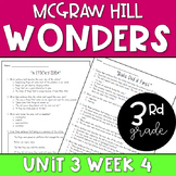 3rd Grade McGraw-Hill Wonders Unit 3 Week 4 Resources