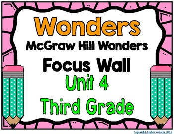 3rd Grade Wonders Unit 4 Focus Wall