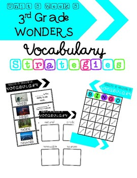 3rd Grade Wonders Unit 5 Week 5 Vocabulary Strategies