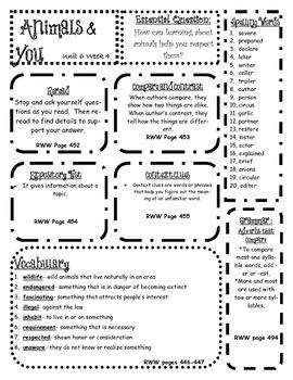 3rd Grade Wonders Unit 6 Skills Posters