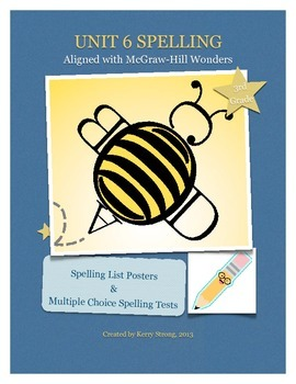 3rd Grade Wonders Unit 6 Spelling List and Test