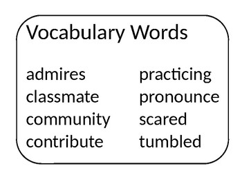 3rd Grade Wonders Units 1-6 Weekly Vocabulary Posters