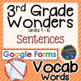 3rd Grade Wonders   Vocabulary Sentences   Google Forms  