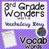 3rd Grade Wonders Vocabulary - Writing Activity UNITS 1-6