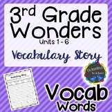 3rd Grade Wonders | Vocabulary | Writing Activity | UNITS 1-6