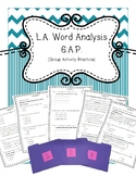3rd Grade Word Analysis G.A.P. [Group Activity Practice] SOL Review