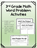 3rd Grade Math Review Word Problems Activities