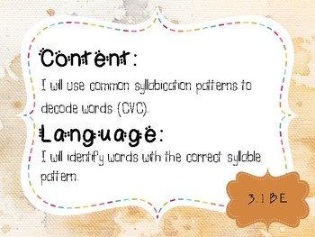 3rd Grade Word Study Objectives TEKS based. Watercolor Themed