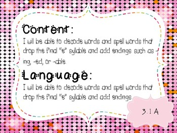 3rd Grade Word Study Objectives TEKS based. Wizard of Oz Theme
