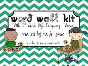 3rd Grade Word Wall Kit