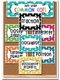 3rd Grade Word Wall Math Academic Vocabulary 252 Common Core Cards-Rainbow Dots