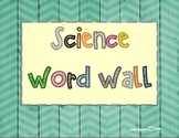 3rd Grade Science Word Wall Set