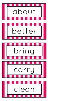 3rd Grade Word Wall Word Cards (Candy Theme)