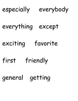 3rd Grade Word Wall Words