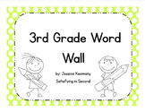 3rd Grade Word Wall Words & Activities