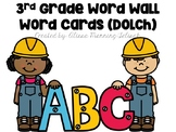 3rd Grade Word Wall Words- Dolch Words (with editable slide)