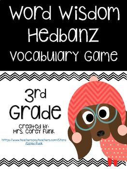 3rd Grade Word Wisdom Zaner Bloser Hedbanz Vocabulary Game Center Word Work