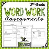 3rd Grade Word Work Assessments with Digital Option for Di