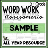 3rd Grade Word Work - Assessments FREE SAMPLE