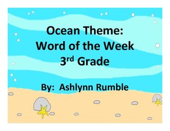 3rd Grade Word of the Week - Ocean Theme