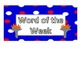 3rd Grade Word of the Week - Olympic Theme