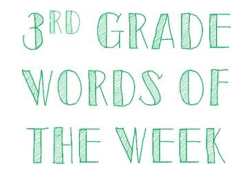 3rd Grade Words of the Week