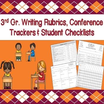 3rd Grade Writers Workshop (Rubrics, Student Checklists, & Trackers)
