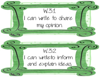 3rd Grade Writing Common Core I Can posters