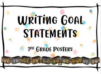 3rd Grade Writing Goals Posters**Editable**