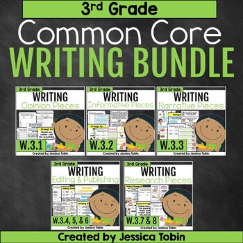 3rd Grade Writing Growing Bundle- Common Core Writing Domain