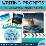 3rd Grade Writing Prompts Narrative  | PICTURES & EDITABLE