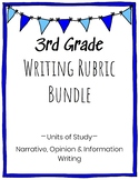 3rd Grade Writing Rubric Bundle