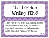 """3rd Grade Writing TEKS """"I Can"""" Statement Posters"""