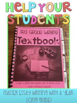 3rd Grade Writing Textbook - A Year-Long Resource