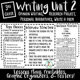 3rd Grade Writing Unit Two