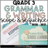 3rd Grade Writing and Grammar Scope & Sequence BUNDLE