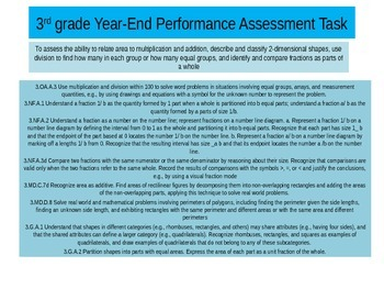 3rd Grade  Year  End Math Performance task 2015 version