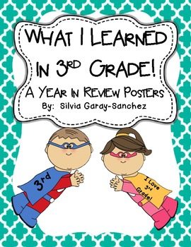 3rd Grade Year in Review Write-In Posters