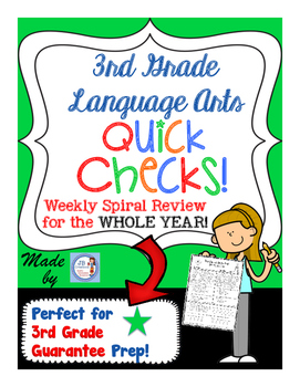 3rd Grade Yearlong LA Spiral Quick Check Set for 3rd Grade Guarantee