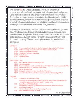 3rd Grade Yearlong LA Spiral Quick Check Set for 3rd Grade Guarantee