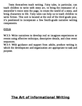 3rd Grade bulletin board writing blurbs Teacher's College units CCLS aligned