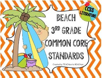 3rd Grade common core ELA Standards - Beach Theme