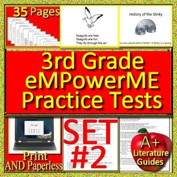 3rd Grade eMPowerME Test Prep Practice Tests #2 - for Maine State Test