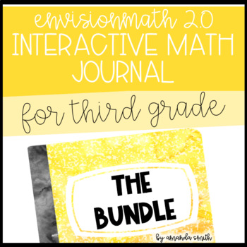 3rd Grade enVision Math 2.0 Interactive Math Journal BUNDLE