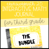 3rd Grade enVision Math 2.0 Interactive Math Journal BUNDLE