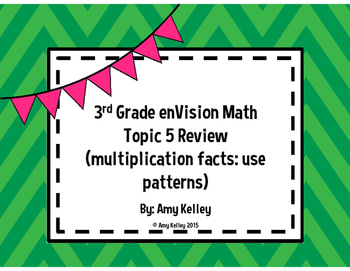 3rd Grade enVision Math Topic 5 Review
