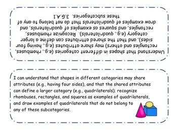 3rd Grade iCan Statements - Math