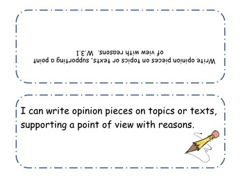 3rd Grade iCan Statements - Writing